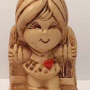 I Love You This Much Figurine Girl Red Heart Paula